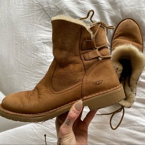UGG fur lined Booties with back tie detail